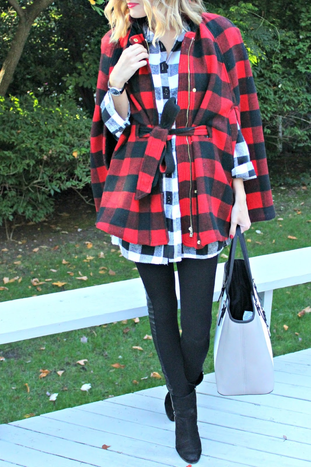 dresslink plaid tunic top