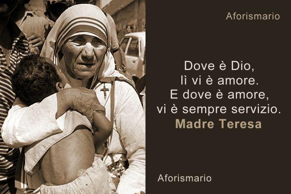 spesso Aforismario®: Madre Teresa di Calcutta - Le frasi più belle e toccanti ZN37