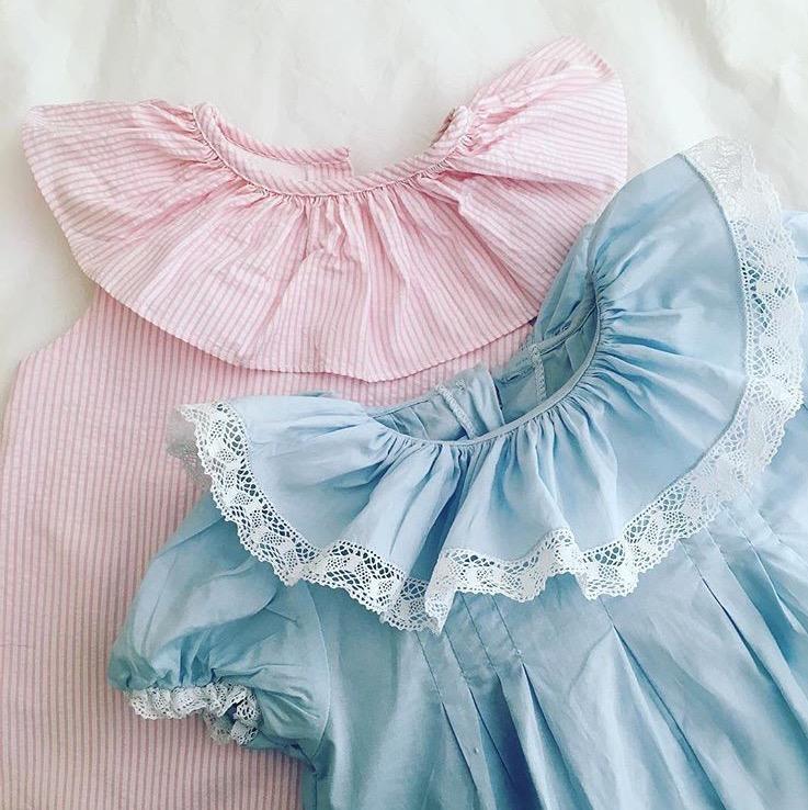 ruffle collar toddler dress
