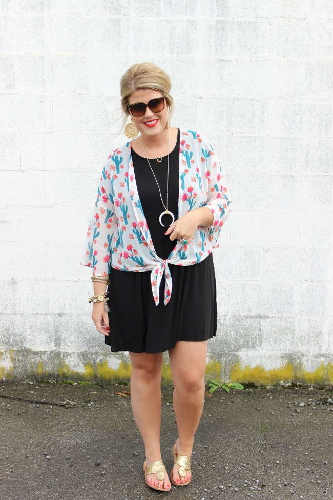 Julie Leah // Cactus Print Kimono