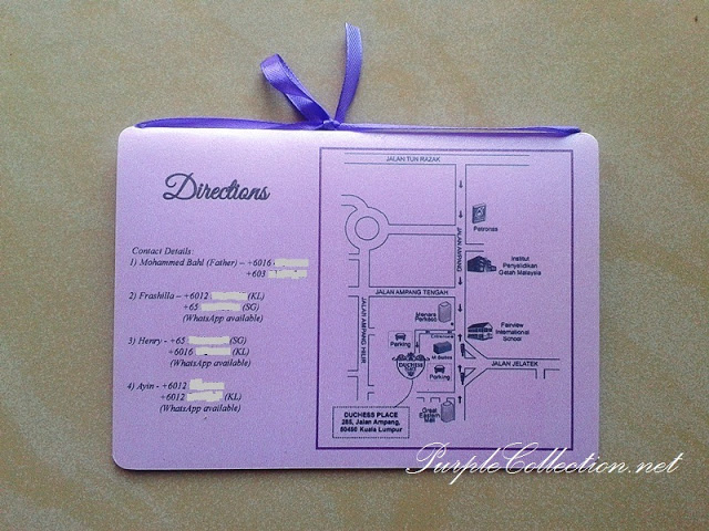 Passport Wedding Invitation Card, Duchess Place Ampang, Passport, Passport Wedding, Invitation Card, Wedding Invitation Card, Card, Purple, Ribbon, Henry & Frashilla, Henry, Frashilla, travel wedding card