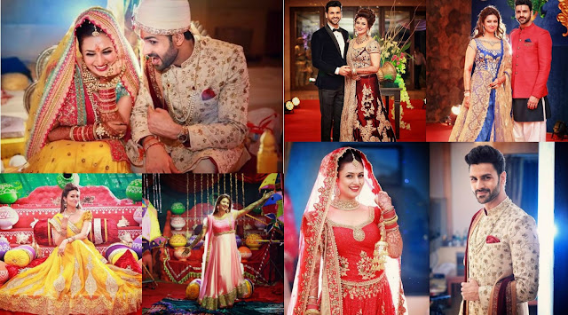 Divyanka Tripathi Wedding outfits