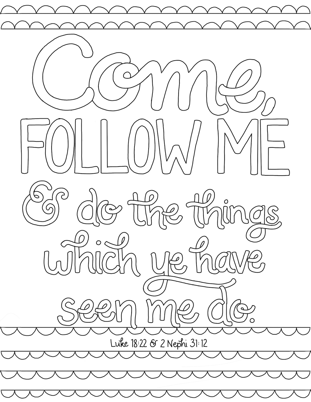 follow me coloring pages - photo#1