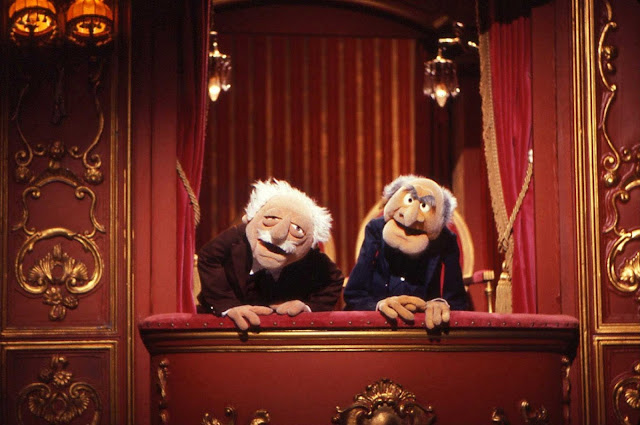 Waldorf and Statler from The Muppet Show (circa 1975)