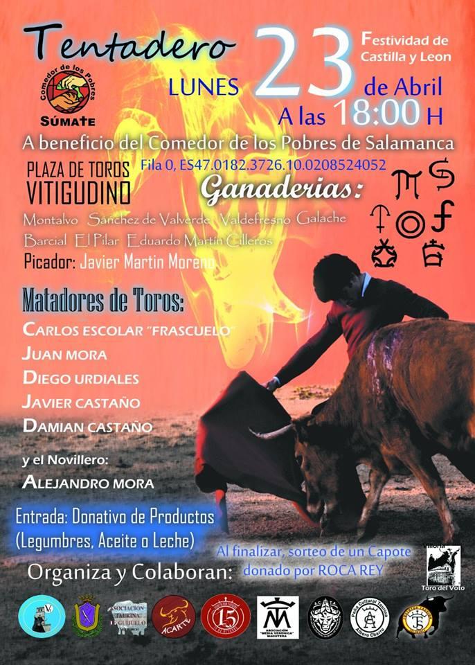 Cartel del Tentadero Solidario a favor del Comedor de los  Pobres