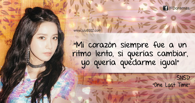 SNSD one last time frases kpop girls generation