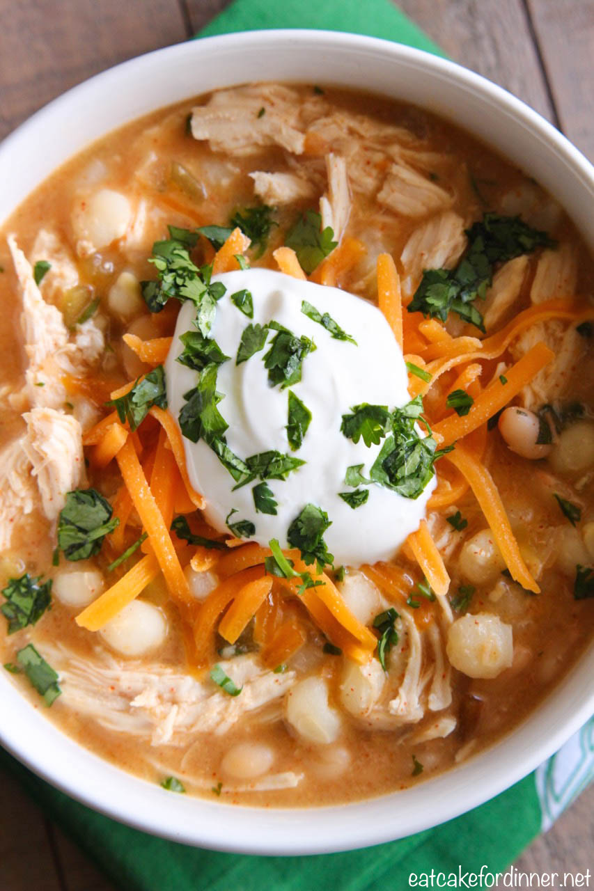 Eat Cake For Dinner Slow Cooker White Chicken Chili With Hominy