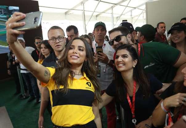 aa1b4c1ea Anitta, conferiram o Grande Prêmio do Brasil de Fórmula 1, em Interlagos,  neste domingo, 11 de novembro de 2018