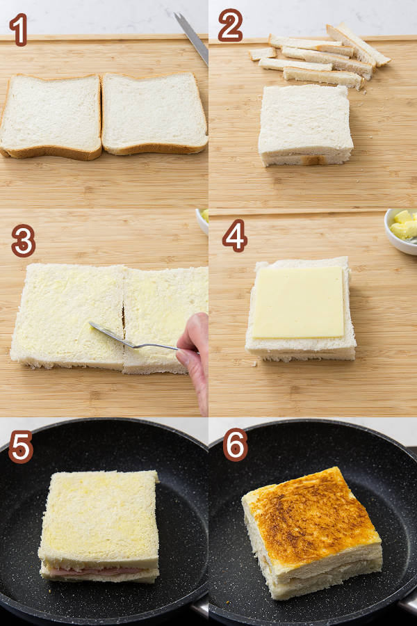 Ham & Cheese Sandwiches Procedures