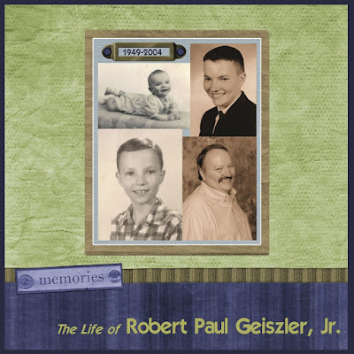 Heritage Scrapbook about Dad