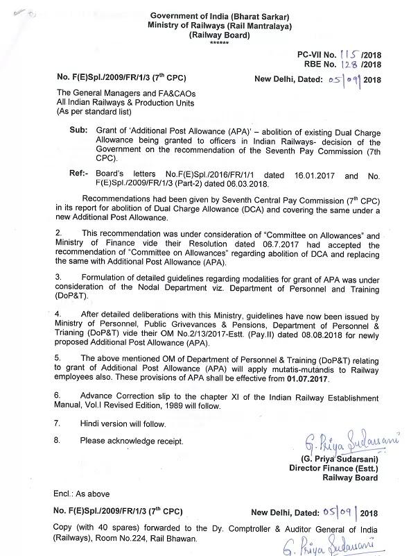 7cpc-railway-board-additional-post-allowance-(APA)-order