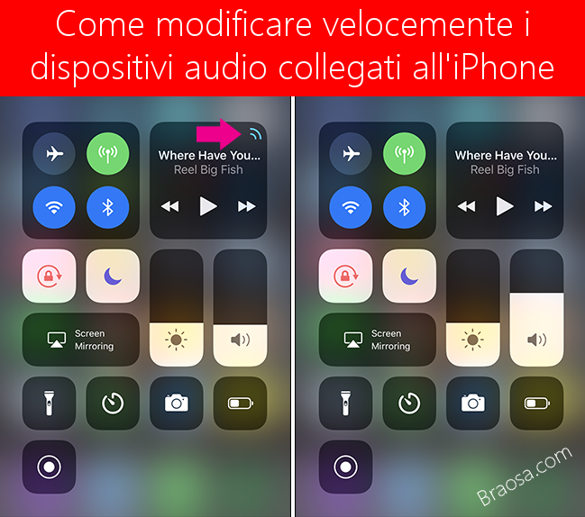 Come modificare i dispositivi audio collegati all'iPhone velocemente