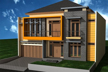 contoh model rumah lantai tingkat 2 minimalis modern