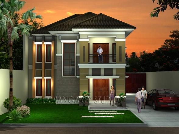 Thiết kế nhà nhìn ra phía trước với kiến trúc quyến rũ