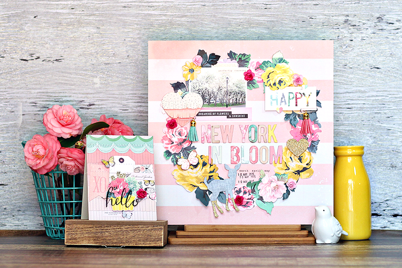 Ashley horton designs crate paper new york in bloom my spring layout for crate paper i also thought it would be fun to create a coordinating spring card while i had out all of the pretty bloom products mightylinksfo