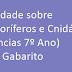 Atividade sobre Os Poríferos e Cnidários (Ciências 7º Ano) com Gabarito