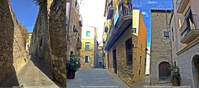 Girona, cidade medieval, de ruas estreitas, muralhas, monumentos