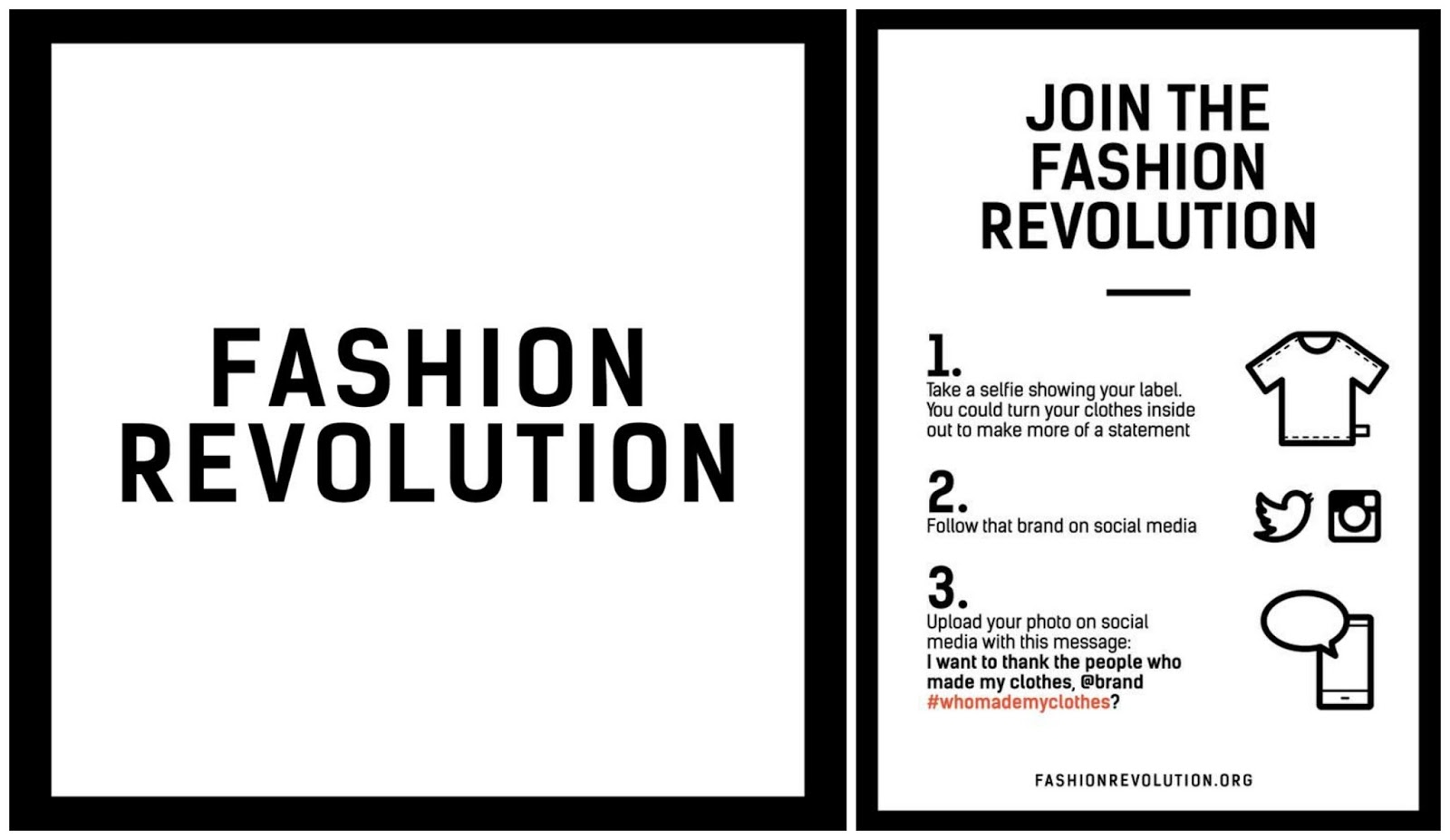 Sunday 24th April Is Fashion Revolution Day