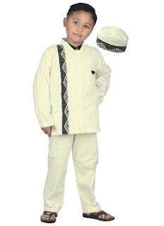 Baju muslim anak laki-laki setelan untuk mengaji TPA