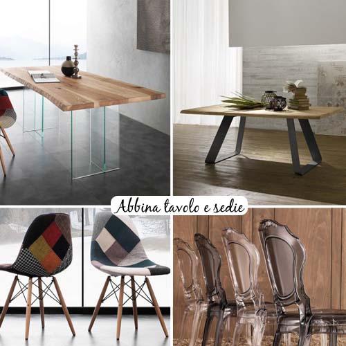 Abbina tavolo e sedie arredamento facile - Sedie di legno per cucina ...