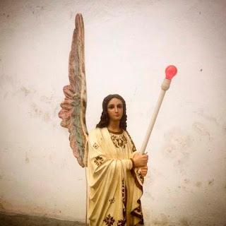 Un ángel en la iglesia de Santa Elena, Yucatán