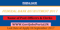 Federal Bank Recruitment 2017– Officers & Clerks