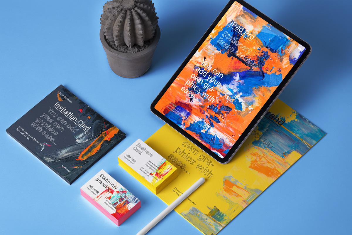 iPad Pro Stationery Mockup