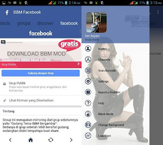 BBM Mod FBUI Simple Blue Facebook Theme v3.2.3.11 Apk [Edisi Berat]