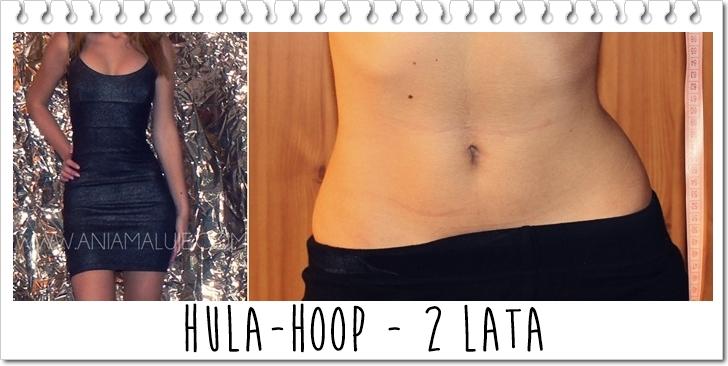 hula hoop z masażerem, bez masażera, przed i po before after hula hoop