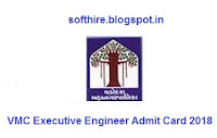VMC Executive Engineer Admit Card