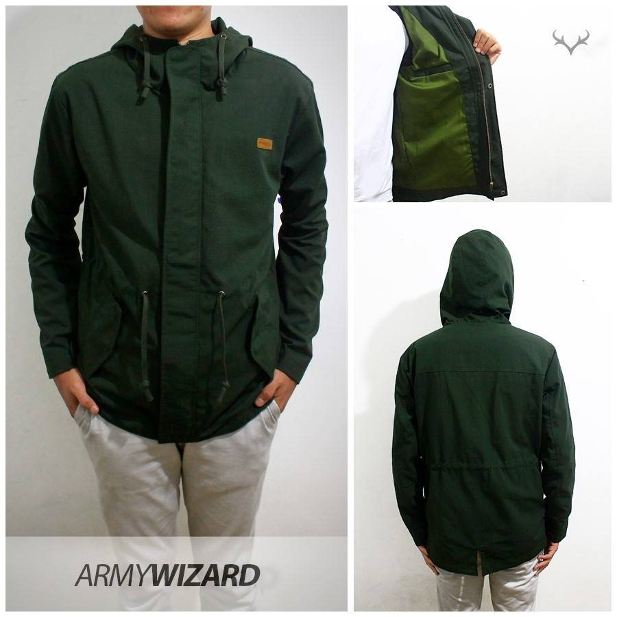 Jaket Parka Wizard terbuat dari bahan Cotton (Katun) Ribstock e05f73dbaa