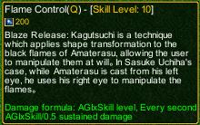 naruto castle defense 6.9 Last Sasuke Flame Control detail