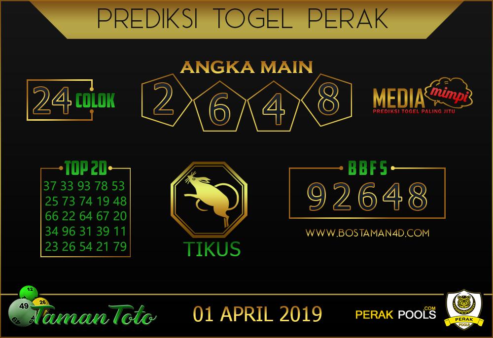 Prediksi Togel PERAK TAMAN TOTO 01 APRIL 2019