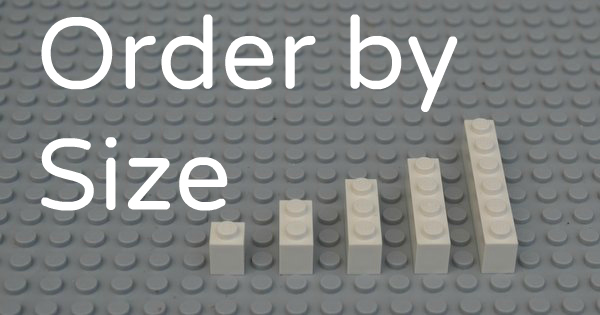 Math Activities for Preschoolers: Learning With Legos - Order by Size