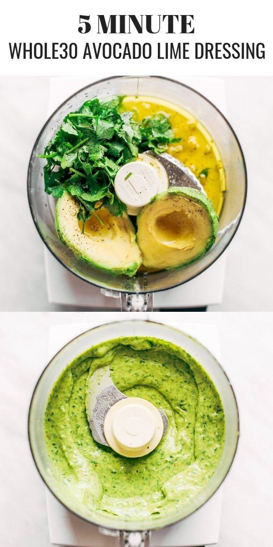 Creamy Avocado Cilantro Lime Dressing