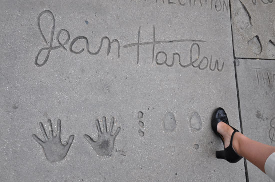 Jean Harlow footprints Grauman's Chinese Theater by Lady by Choice