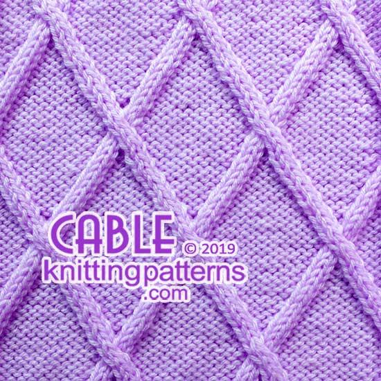 Big Diamond  Cables - Free stitch pattern.