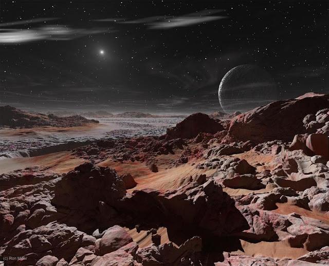 Sol visto de Plutão