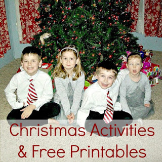Christmas activities and free printables.
