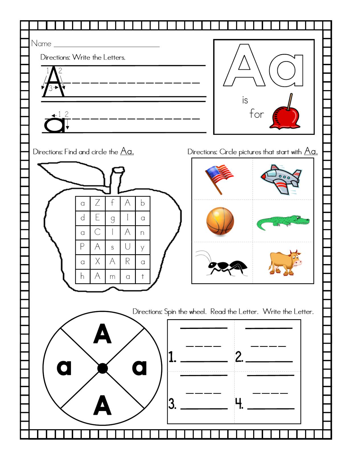 Teachers R Us Alphabet Letter Activities