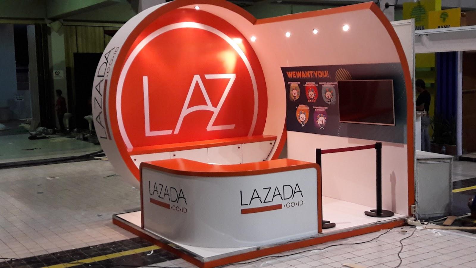 BOOTH LAZADA CAREER DAY UI - INexpo Design Kontraktor Pameran