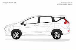 template branding blueprint Mitsubishi expander format coreldraw