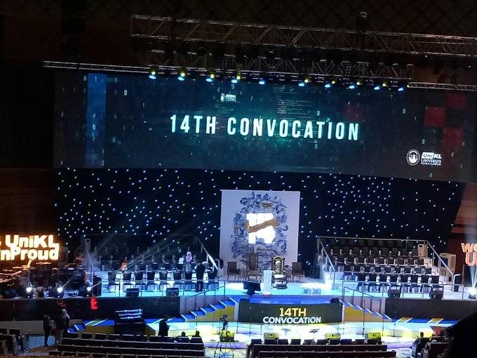 Aina raikan Pak Teh graduasi di Konvokesyen ke-14 UniKL di PICC