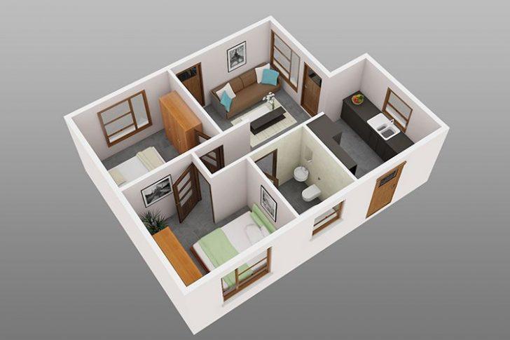 Ide Desain Rumah Petak 2 Kamar Tidur Untuk Tempat Tinggal