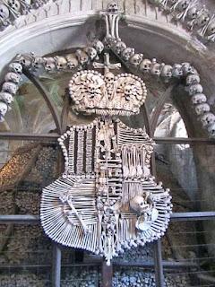 Schwarzenberg Coat of Arms Human Bones Kostnice Ossuary Sedlec Czech Republic