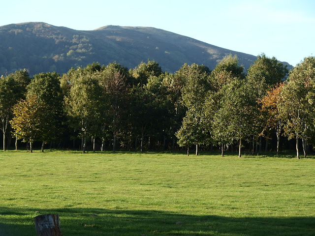 The Malvern hills from the Three Counties showground