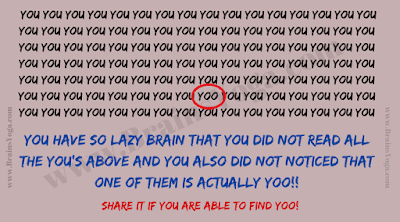 Answer of Lazy Brain Mistake Puzzle