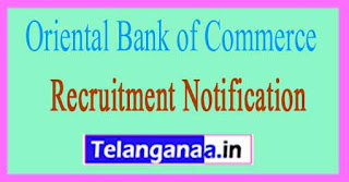 Oriental Bank of Commerce OBC Recruitment Notification 2017