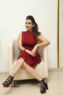 Telugu Tollywood Anchor Manjusha Pos in Red Short Dress  0098.JPG
