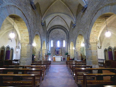 Interior of the Pieve di S. Maria e S. Leonardo ad Artimino